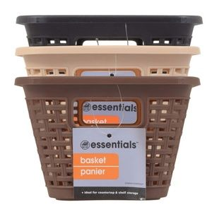Private Label Storage & Organization - 3 Earth tone Baskets with Lids